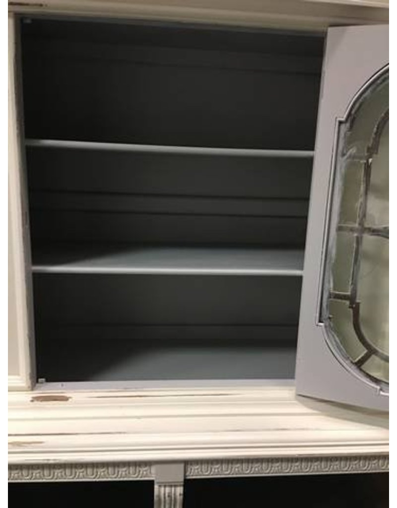 ... 1920\u0027s Painted China Cabinet w/ Fretwork Door 46x20x73 ... & 1920\u0027s Painted China Cabinet w/ Fretwork Door 46x20x73 - Heirloom Home Pezcame.Com