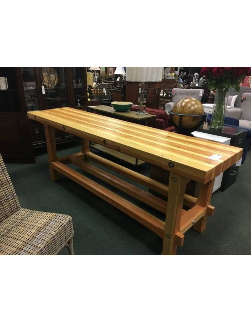 Bench 8 Part - 41: Solid Wood Work Bench 8u0027x ...