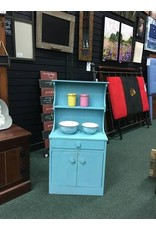 Child's Teal Painted Hutch 17x9x34