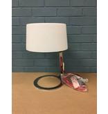 Scarlet Modern Chrome Lamp w/ Glass Shade
