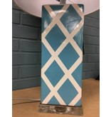 """Benton 27"""" Teal and White Table Lamp"""