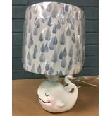 Whale Lamp w/ Raindrop Shade