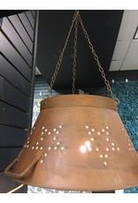 Rusty Colander Shade Lamp