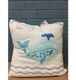 Cotton, Whale Pillow