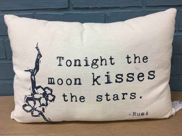 Moon Kisses Stars Pillow