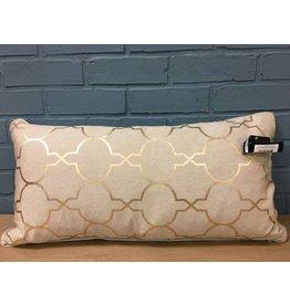 Salisbury Foil Tile Throw Pillow