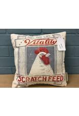 "Scratch Feed Pillow, 12"""