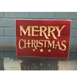 Merry Christmas Engraved Sign