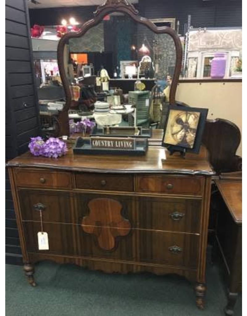1920's Mahogany Dresser w/Mirror
