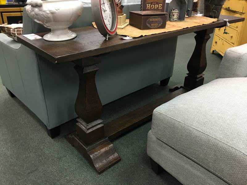 """Louise 72"""" Rustic wood console table"""