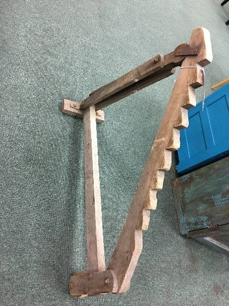 Antique Wooden Buggy/Wagon Jack