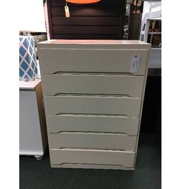 Vintage White Painted Chest Of Drawers