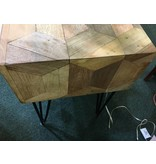 Kaleidoscope Mid- century End Table w/ Drawer