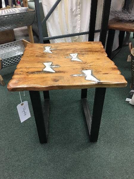 Molton Metal And Wood End Table