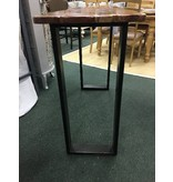 Molton metal and Wood Console Table