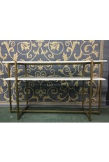 Marble Top Console Table w/ Metal Base
