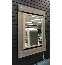 Real Wood 30x43 Beveled Mirror
