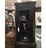 Small Dark Wood Corner Cabinet
