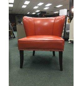 Madison Park Boyers Orange Slipper Chair