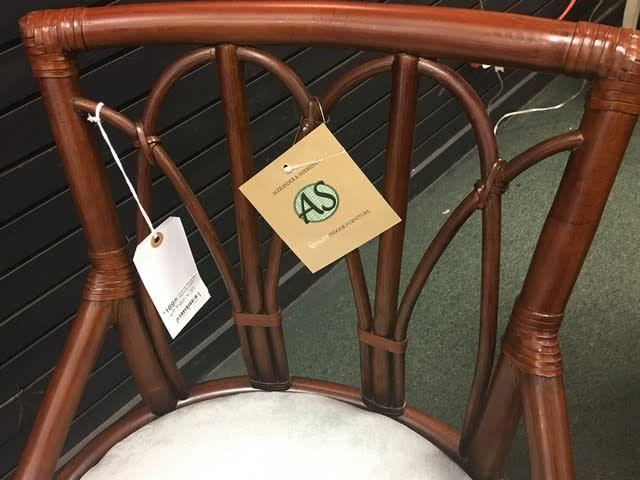 "Alexander & Sheridan Inc. Cuba 24"" Swivel Bar Stool with Cushion"
