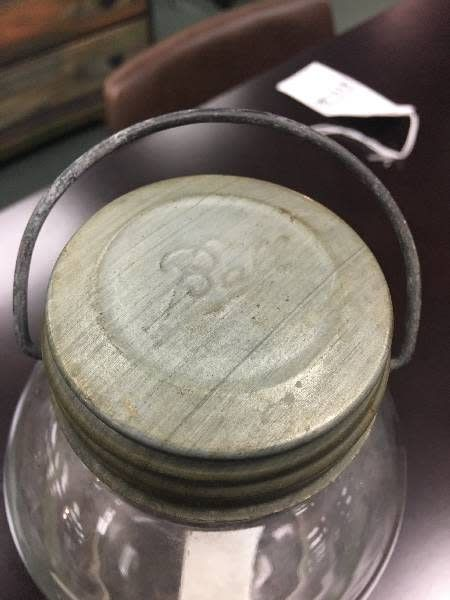 Vintage Ball Canning Jar w/ Metal Lid and Handle