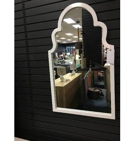 White Arch Vertical Wall Mirror 24x40