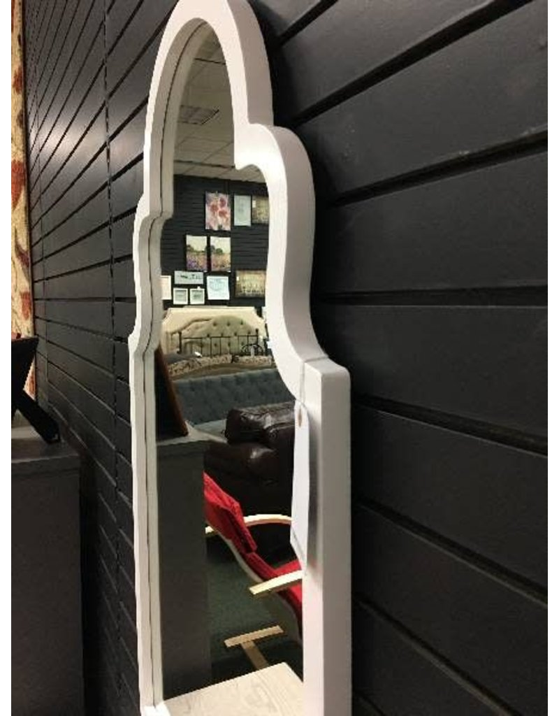 White Arch Vertical Wall Mirror 24x40