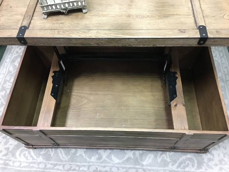 Mathis Coffee Table Trunk with Lift Top