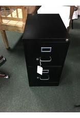 2 Drawer Letter-Size File Cabinet -- Black