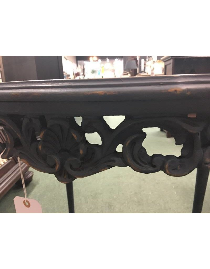 Vintage Victorian Ornate Gray Occasional Table