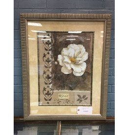 Large Framed Rose Print