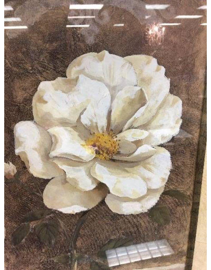 Large Framed Rose Print - Heirloom Home