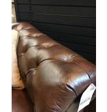 Abbyson Living Galveston Premium Italian Leather Chesterfield Chair