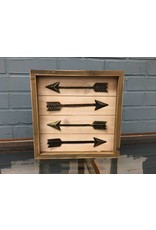 Arrow  Framed Box Sign