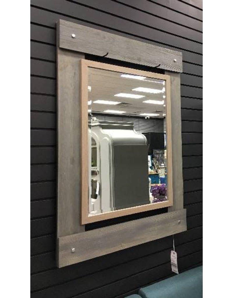 Real Wood 30x43 Beveled Mirror