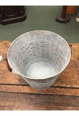 "9"" Galvanized Olive Bucket"