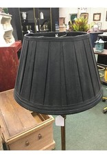 Vintage Brass Floor Lamp w/ Black Shade