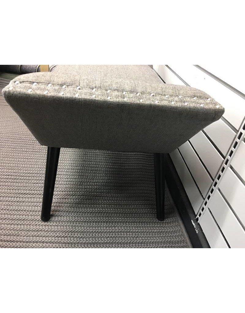Granite Studded Upholstered Ottoman