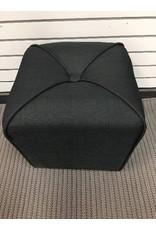 Three Posts Fawkes Cube Ottoman, Black