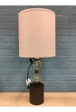 "Barron Pedestal Glass 25"" Table Lamp"