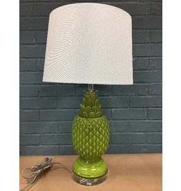Bay Isle Home Green Biscayne Pineapple Glass Lamp