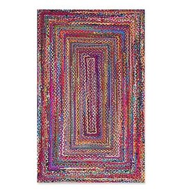 nuLOOM Nomad Hand Braided Multi-Color 7.5' x 9.5'