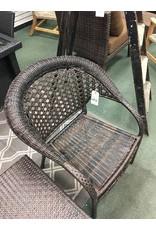Dark Wicker Armchair