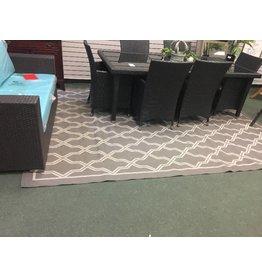 """Gray/Cream Indoor/Outdoor Couristan 7'10"""" x 10'9"""" Area Rug"""