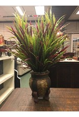 Autumn Foilage Grass in Footed Vase