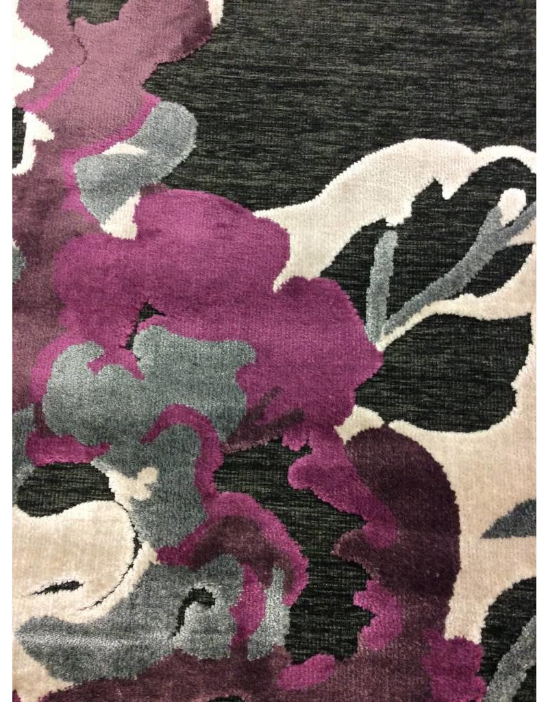 "Feizy Saphir Rubus Dark Gray and Raspberry 2'2"" x 4' Area Rug"