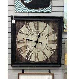 FRAMED OLD TOWN CLOCK
