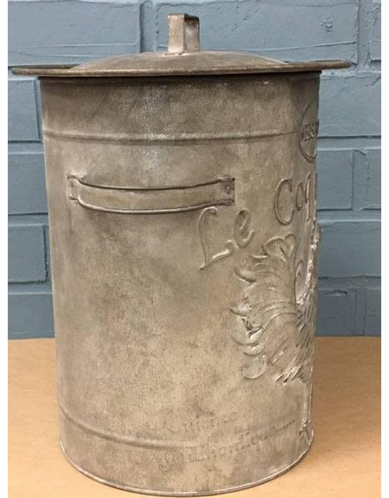 "CWI Gifts 13"" Rooster Metal Canister"