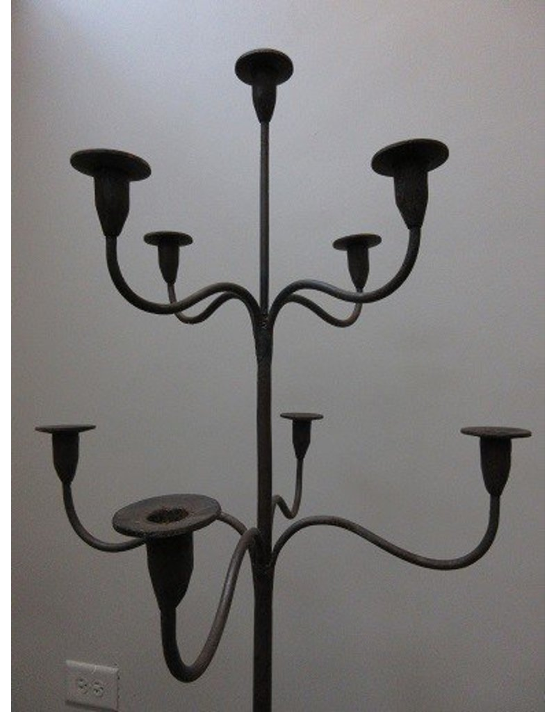 Pair of Large Cast Iron Candelabras