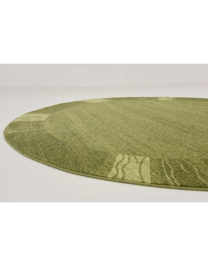 Unique Loom Sarah Del Mar Light Green 8' Round Area Rug